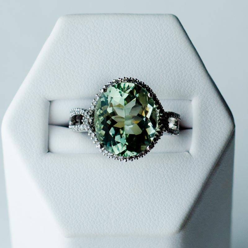 green amethyst and ring argento laraine jewelry